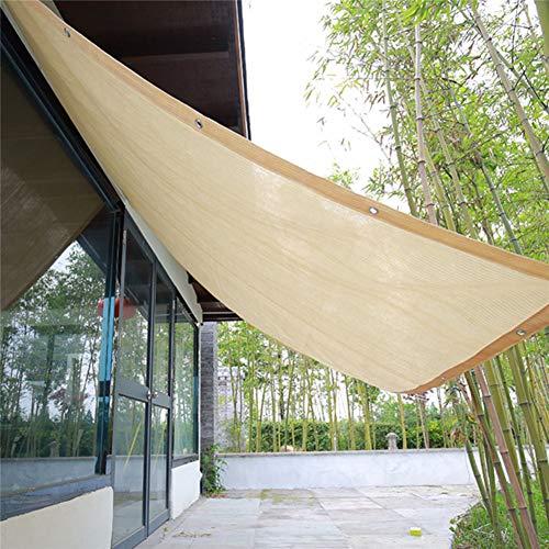 Vela De Sombra Solar,Bloqueador Solar De Malla Solar,Velas De Sombra De Protección Solar Anti-UV para Jardín Al Aire Libre,para Coche De Invernadero De Plantas,3×3M