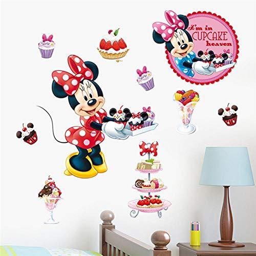 Greneric Cartoon Minnie Cupcake Ice Sky Wall Sticker for Kids Room Home Decor Wall Tattoo PVC Wall Art DIY Poster