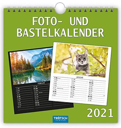 Foto- und Bastelkalender medium 2021: 21 x 21 cm (Geschenkkalender)