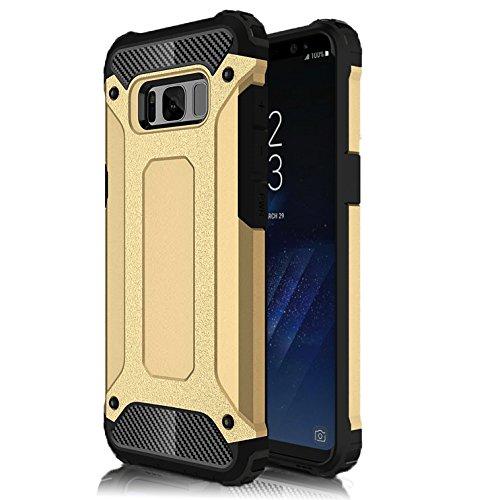 MYCASE fullt armerat fodral till Samsung Galaxy S8   skyddsfodral guld hybriddesign TPU hårt plast skyddsfodral skal 360