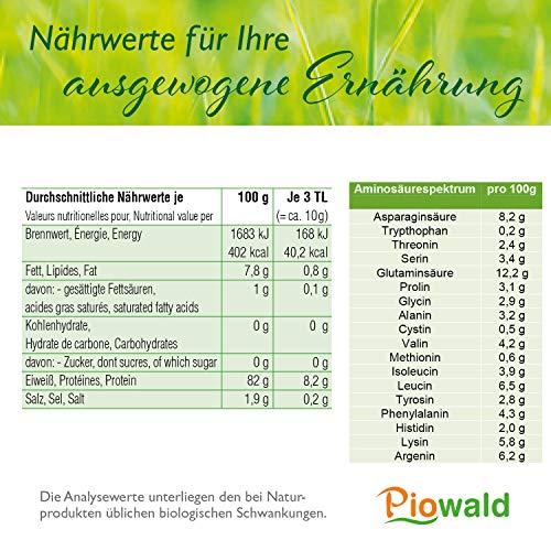 BIO Erbsenprotein – Isolat – 1 kg Pulver - 3