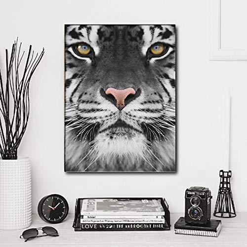 Puzzle 1000 piezas Pintura decorativa minimalista nórdica cabeza de tigre. puzzle 1000 piezas clementoni Rompecabezas educativo de juguete para aliviar el estrés intelectual50x75cm(20x30inch)