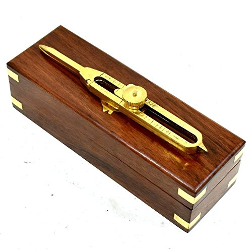 Asmara Nautique Solid-brass-proportional-divider-6-inch-with-anchor-inlaid-box