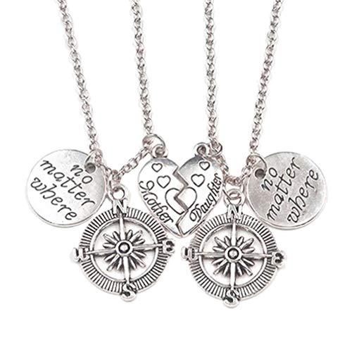 PRETYZOOM cadeau voor dochter moeder bijpassende hart puzzel hanger ketting letters moeder dochter ketting moeders dag geschenken voor moeder verjaardag geschenken