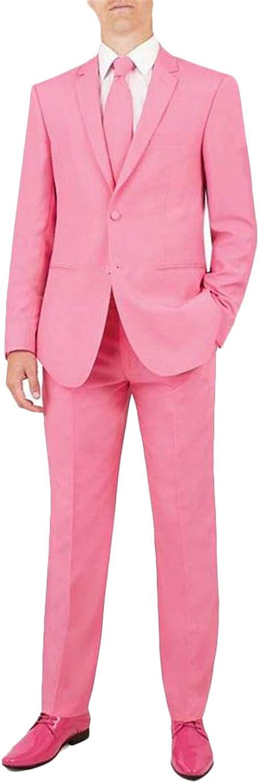 YZHEN Men's Suit One Button mart Lapel Two Pieces Set Notch Cheap bargain