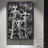 sanzangtang Poster Drucken Schwarz-Weiß-Giraffe