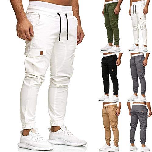 2021 Nouvelle Pantalon Cargo Homme Militaire Grande Taille Casual - Pantalons de Sport Hommes Slim Workout avec Grandes Poches Latérales - Jogging Hommes(S-5XL)