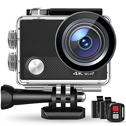 Action Cam, 4K/30FPS Wasserdicht 40M 4K...