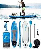 Freein Stand Up Paddle Board Gonflable Sup 10 '/ 10'6 Long avec Kit de Conversion Kayak, Package∣Siège Kayak, Pagaie 2 en 1 réglable, Sac à Dos, Sangle, Pompe,Réutilisable