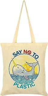 Say No to Plastic Tote Bag Cream 38x42cm