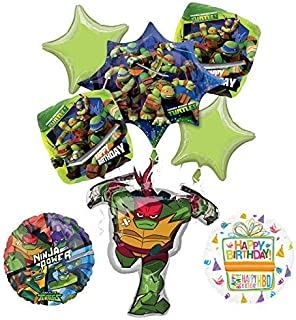 Mayflower Products Teenage Mutant Ninja Turtles Birthday Party Supplies TMNT Raphael Balloon Bouquet Decorations