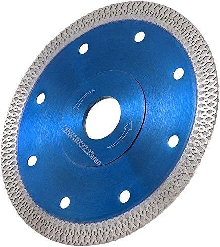 Diamantscheibe 115/125mm Diamant Trennscheibe Trennscheiben Schneidräder Kreissägeblatt für Winkelschleifer Diamanttrennscheibe für Fliesen Feinsteinzeug Granit Holz Glas Metall (Blau, Ø125mm)