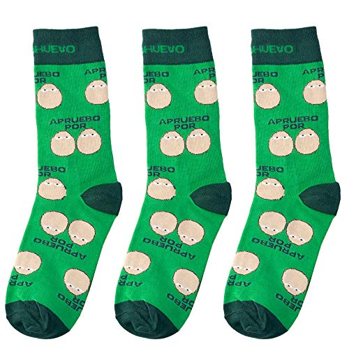 mundohuevo trio calcetines regalo estudiantes y opositores. Apruebo por huevos. 1 gratis por el que se te pierde