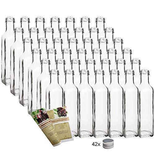 gouveo 42 leere Glasflaschen 250ml