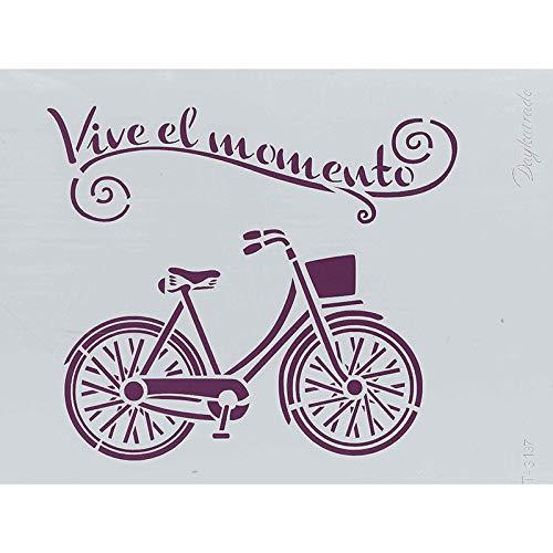 Dayka Trade sjabloon A4, motief fiets, meerkleurig, eenheidsmaat