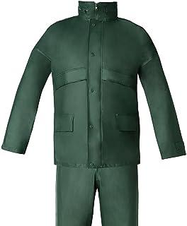 WOLFPACK LINEA PROFESIONAL 15010038 Traje de Agua Impermeable Verde Poliuretano Talla 8-XL