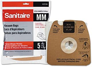 Top Vacuum Parts Sanitaire 63253A10 Style MM Disposable Dust Bags w/Allergen Filter for 3670G
