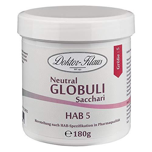 180g Neutral Globuli HAB 5, Doktor-Klaus, reine Saccharose, in weisser Dose