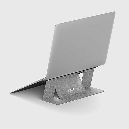 正規代理店】MOFT ノートパソコンスタンド PCスタンド 二段階調整可能 超軽量 超極薄 Macbook Pro/Air/タブレット/その他ノートPC 最大15.6インチまで対応 (放熱穴無し, Silver)