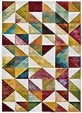 Universal Alfombra geométrica Pandora Pirämides Multicolor, 100% Polipropileno, Multi, 120 x 170 cm