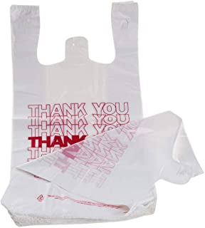 Sponsored Ad - TashiBox Shopping Bags/Thank You Bags/Reusable and Disposable Grocery Bags - Measures 11.5