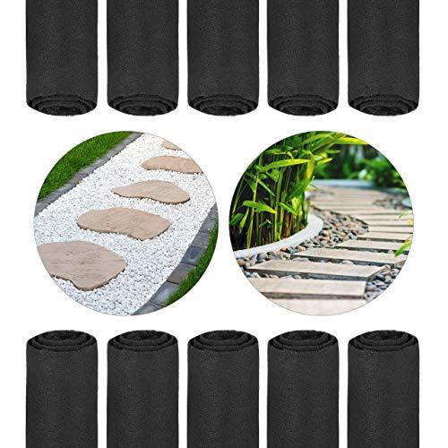 Relaxdays 10x Toiles paillage Anti-Mauvaises Herbes 150 m, Bâche tissée, Toile 17 g/m² Film, Résiste UV, antidéchirure, Noir