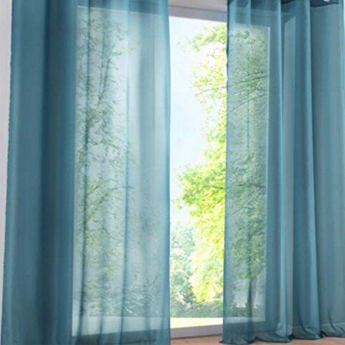 cortinas cortas habitacion verde