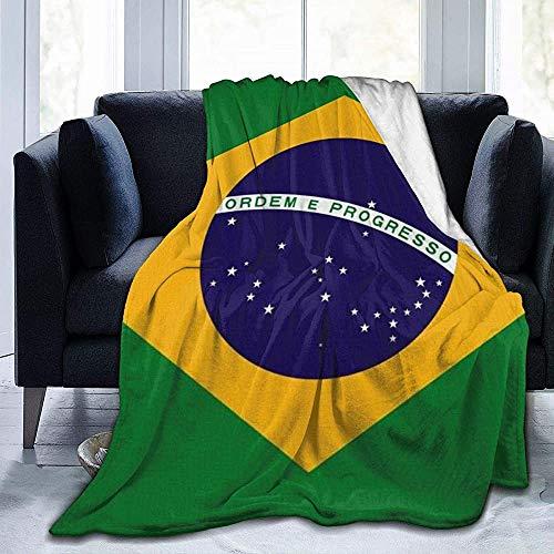 Darlene Ackerman(n) Bandera de Brasil Manta de Microfibra Ultra Suave Manta de Felpa de Terciopelo de Franela para sofá Cama