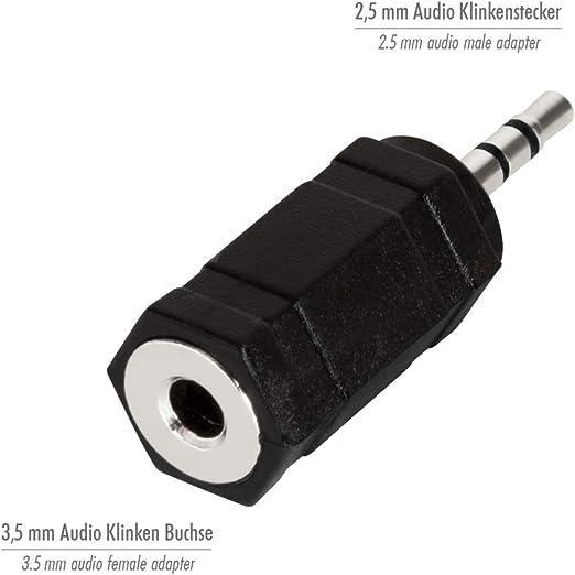Logilink Ca1102 Stereo Headset Adapter Schwarz Elektronik