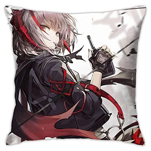 DRXX W Hentai Gril Arknights Funda de Almohada de Anime Hentai Waifu Cojín Decorativo Fundas de cojín Cuadrado para sofá de casa Sofá 45x45cm