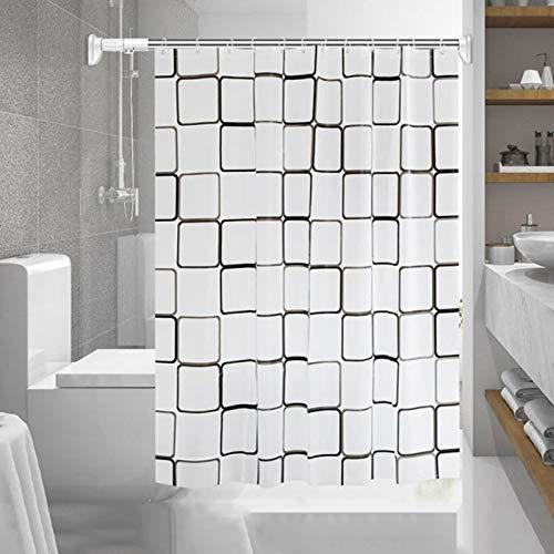 Duschvorhang 120x200,Wasserwürfel Duschvorhänge,Wasserdichter Badezimmervorhang,Duschvorhang 3D Wasserwürfel,Waschbar Duschvorhang,Duschvorhang Transparent Weiß,Duschvorhang