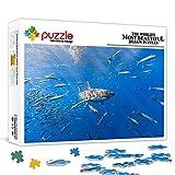1000 piezas rompecabezas Pacific SharkAnimal set puzzleAnimal juguete rompecabezas juego de entretenimiento juguete decoración de la pared pintura 75x50cm