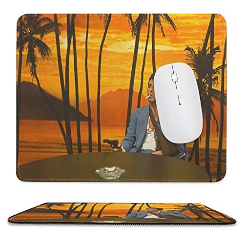 Bribase Shop Scarface Film Poster Mouse Pad Gaming Mouse Pad Tappetino per Ufficio Bordi Cuciti Base In Gomma Antiscivolo 9,8 '× 11,20,3 cm