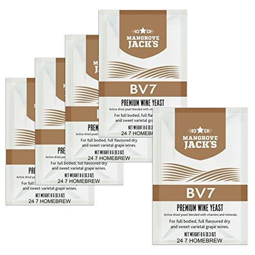 5X Mangrove Jacks - BV7 8g behandelt 23L droge en zoete witte wijnen