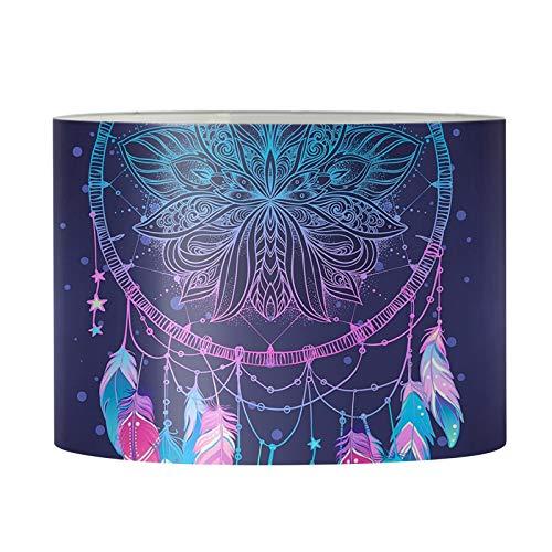 Agroupdream Elegante pantalla redonda para lámpara de mesa de tambor para lámpara de suelo, cubierta de luz para mesita de noche, lámpara de escritorio, atrapasueños, tamaño mediano