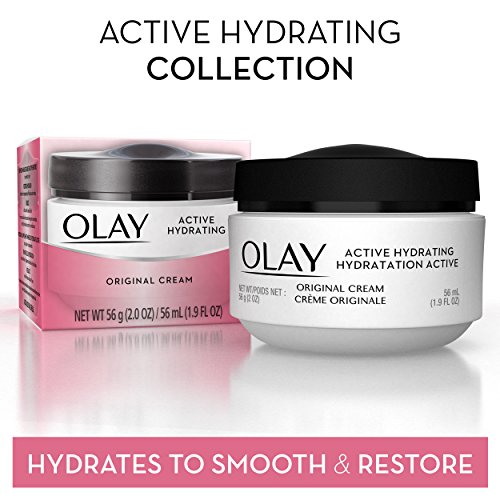 Olay Active Hydrating Cream Face Moisturizer, 2 Oz, Pack of 3