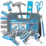 Hi-Spec 48 Piece Starter Tool Kit for College, Dorm, Home & Camping. Includes 2 All-Purpose Multi-Tools & DIY Hand Tools In A Portable Case