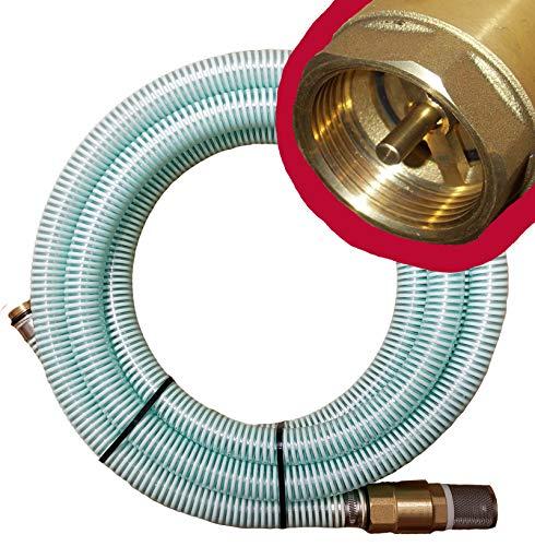 """Brunnenandi Saugschlauch 1\"""" mit Qualitäts-Ventil _-=-_ HIER in 4m + versch. Längen _-=-_ für Elektropumpen Hauswasserwerk, Hauswasserautomat fördern aus Brunnen oder Regentonne geeignet ! Saugschläuche + Rückschlagventil"""