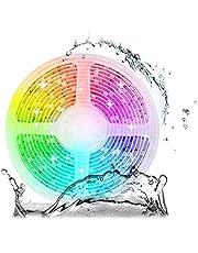 Arote 24V 5M LED Strip RGBWW IP65 waterdicht 5050 SMD RGB+Warm Wit 4-in-1 LED Strip LED Band 300 LEDs String Lights Lichtstrip Decoratieve Lichten Trappenlicht, 60LEDs/M, 5M