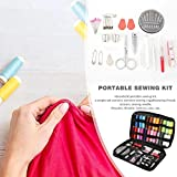 LITING Kit de Costura para máquina de Coser 90pcs / Set Kit de Costura para Viajes en el hogar Adultos Principiantes Niños Agujas Hilo Bordado Craft Mini Caja de Costura portátil Kits de Costura Kits