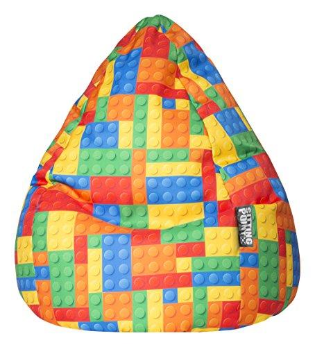SITTING POINT only by MAGMA Pouf pour Enfant Bricks XL env. 220 l