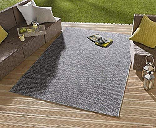 Tapis/Tapis Moderne Tapis Salon d'extérieur – pour balcon ou terrasse – Convient pour Outdor dans et – la star à vos meubles de jardin
