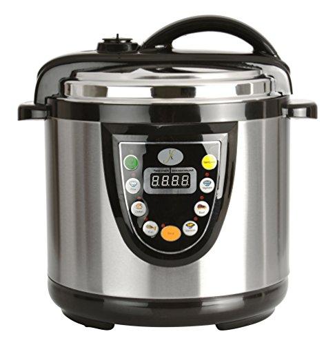 Berghoff Electric Pressure Cooker, 6.3 Qt, Black/Silver