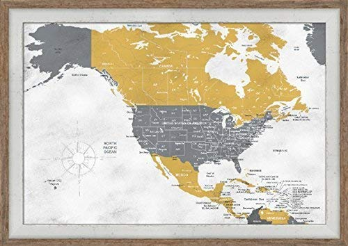 Canada Push Pin Map Personalized Map Personalized North America Map United States Of America Push Pin Map North America Pushpin Map