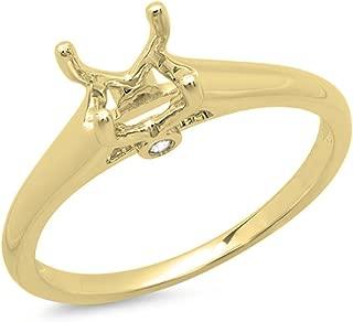 0.05 Carat (ctw) 14K Gold Round Diamond Ladies Engagement Semi-Mount Ring (No Center Stone)