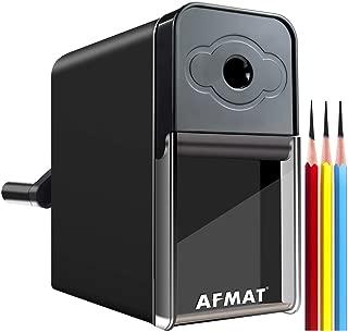 Long Point Pencil Sharpener, AFMAT Pencil Sharpener for Artist, Manual Pencil Sharpener for 6-8.2mm Sketching/Drawing/Charcoal/Graphite/Prismacolor Colored Pencils w/Sandpaper,Adjustable Pencil Nibs