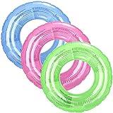 com-four 3X Schwimmreifen, Schwimmring in sommerlichen Farben, Bunte Kinderschwimmreifen, Ø 47 cm [Auswahl variiert] (03 Stück - Ø 47 cm Einfarbig)