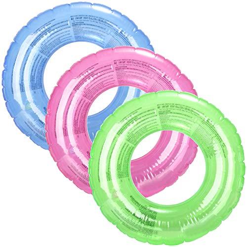 COM-FOUR® 3x zwembanden, zwemring in zomerkleuren, kleurrijke kinder zwembanden, Ø 47 cm [selectie varieert] (03 stuks - Ø 47 cm een kleur)