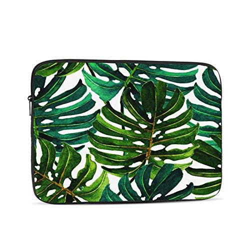 Aquarell tropisch grün Blätter...