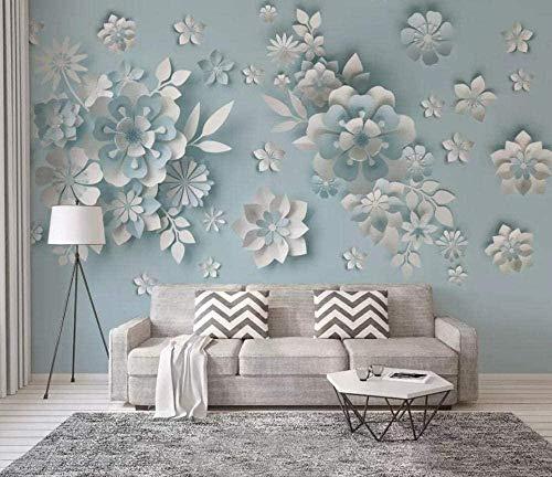 Tapete Plakat Wandbilder Nordic Embossed Flower Wallpaper Wandbild 3D Wandvlies Wandbilder-250cmx175cm(LxH)